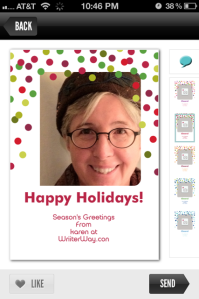 Creating a holiday card with Red Stamp